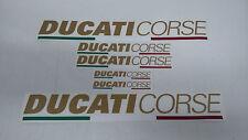 6 adesivi moto ducati corse da carena codone serbatoio colore oro metallizzato