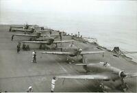WW II Usa  Photo ** Hawker Hurricane On Deck Of Carrier  **