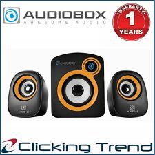 Computer Speaker 2.2 Bass AudioBox A300 Desktop PC Speaker USB Subwoofer Gold