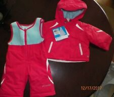 Wonderkids girls bibs pink star on knee ski snow suit cover all