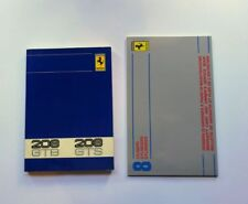 FERRARI 208 GTB GTS OWNERS MANUAL + SERVICE BOOK '80/81 / MANUALI FERRARI 208