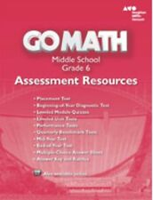Grade 6 Go Math Assessment Resources with Answers Middle School 6th