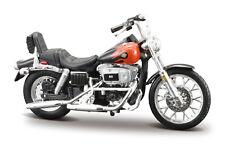 Harley-davidson 1948 Panhead Bleu 1 24 Modèle de Moto