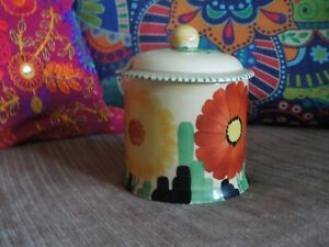 Susie Cooper Art Deco Preserve Pot - Floral Design