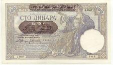 Billet banque SERBIE SERBIA YOUGOSLAVIE YUGOSLAVIA 100 DINARA 1941 UNC NEUF 703