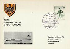 Taufe Lufthansa City-Jet D-ABER GOSLAR 14.5.1969 Rarität mit Sonderstempel