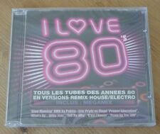 CD I LOVE 80 Tous les tubes des années 80 en versions remix house electro SEALED