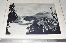 PHOTO ECOLE 1954 GEOGRAPHIE ASIE VOLCANS ILE DE JAVA