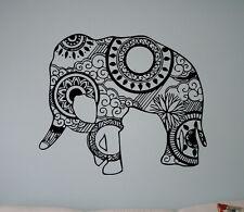 Indian Elephant Vinyl Decal Indian Patterns Vinyl Stickers Art Home Interior 1