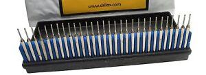 """Drilax 30 Pcs Premium 1mm Diamond Drill Bit Burr Set 1/24"""" (1mm) Jewelry Glass"""