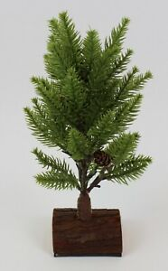 "Christmas Tree Artificial Pine Table Top with Wood Base Holiday Decor #B 11"""