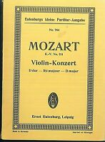 Mozart : Violin-Konzert D-Dur K.V. 211 ~ Studienpartitur