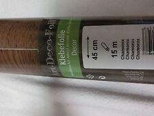 15 m X 45 cm Möbelfolie Deco- Klebefolie Rolle  Nussbaum/Chamonix