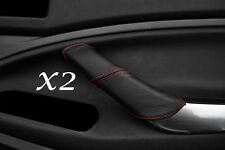 RED STITCHING FITS FORD C MAX 2008-2010 2X FRONT LEATHER DOOR HANDLE COVERS ONLY