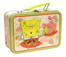 SPONGEBOB SQUAREPANTS Tin Metal Tote Lunch Box Carry All Storage Gift Bag NEW