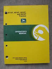 John Deere 8110T 8210T 8310T 8410T Track Tractor operators Manual Jdk9