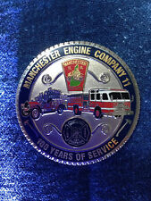 Manchester NH Fire Engine 11 Challenge Coin Commemorative 100 YR Collecible