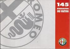 ALFA ROMEO 145 Betriebsanleitung 1995  Bedienungsanleitung Handbuch  BA
