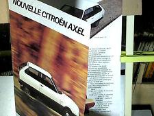 RARE DEPLIANT / CITROEN AXEL : 06 1984