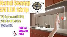 1m Hand Sweep GESTURE LED adhesive strip Lamp lighting 5V USB.  WATERPROOF