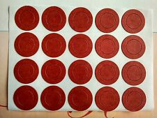 200 pcs Red Insulators Adhesive Paper for 1x  18650 Battery