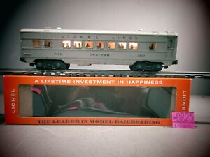 LIONEL O SCALE 2422 CHATHAM ILLUMINATED PULLMAN CAR WITH LIONEL BOX