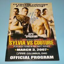UFC Official Program 2007 Signed Tim Sylvia & Matt Serra Rare