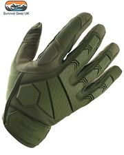 GREEN ALPHA TACTICAL COMBAT GLOVES HARDSHELL KNUCKLE MICRO FIBRE PALM SHOOTING