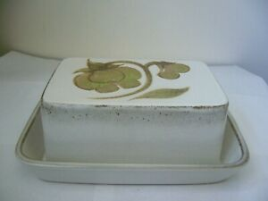 DENBY TROUBADOR LIDDED BUTTER DISH SECOND QUALITY GOOD USED F