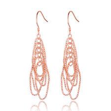 Rose Gold Silver Color Dangle Earrings Long Earrings For Women Fashion Jewelry