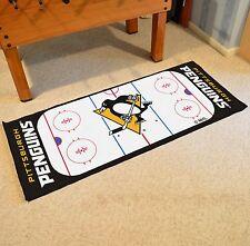 "Pittsburgh Penguins 30"" X 72"" Hockey Rink Runner Area Rug Floor Mat"