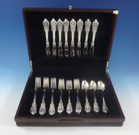 Grande Baroque by Wallace Sterling Silver Flatware Set For 8 Service 32 Pieces