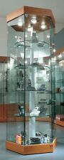 Vetrina Vetrinetta Espositore esagonale vetro girevole motore motorizzata