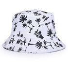 Unisex Floral Bucket Hat Camping Fishing Brim Sun Safari Hawaiian Boonie Caps US