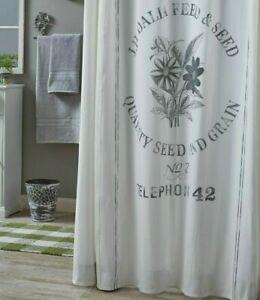 SEED SACK Shower Curtain mercantile Farmhouse Grain cotton Bath - Park Designs