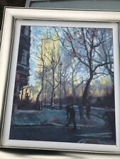 """Rolf Harris Signed LImited Edition Canvas Print - """"Autumn Sunlight Westminster"""