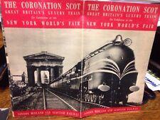 The Coronation Scot, Great Britain's Luxury Train, N Y World's Fair 1939