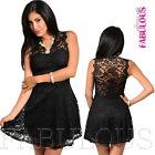 New Sexy Lace Crochet Skater Dress Stylish Evening Formal Size 2 4 6 8 10 XS S M