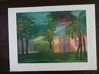 "Carole Sue Lebbin Etching ""N. OF DOMENICA"" Signed/Artists Proof"