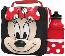 MINNIE MOUSE Insulated 3D Lunch Bag Box And Drink Sport Water Bottle Set