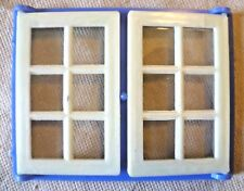Vintage Dolls House DIY - Caroline's Home Double Panelled Glazed Blue Window #4