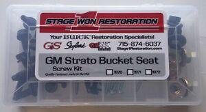 1969, 1970, 1971, 1972 Buick GS, GSX & Skylark Bucket Seat Bolt Kit