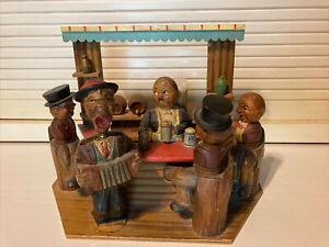 "Vintage ANRI ""Rosen Aus Dem Suden"" Wood Carving Germany Bottle Opener Bar Decor"