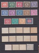 ITALY 1947 Tax due - watermark whell Mint **/*  (Sa.97/110)