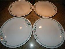 "4 Corning Corelle RoseMarie Tulip Pattern Dinner Plates 10.25"""