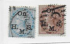 1874-82 British India Official Sc#s O22 & O23 UH