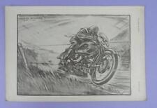 Mervyn McMurray - Original Motor Cycling Magazine Supplement Print 1933
