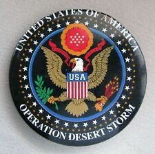 Official United States Military OPERATION DESERT STORM Button;H400