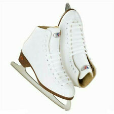 Riedell Style 12 Child Ice Skates for Girls - White Ribbon Gr 4 - Size junior 9