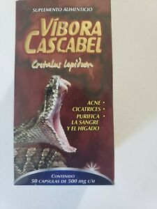 VIBORA DE CASCABEL / ORIGINAL RATTLESNAKE 50 CAPSULAS SUPLEMENTO ALIMENTICIO